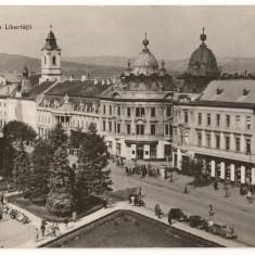 CPI (B7329) CARTE POSTALA - CLUJ. PIATA LIBERTATII, RPR - Carte Postala Transilvania dupa 1918, Necirculata, Fotografie
