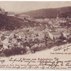 1824 - L i t h o, Mures, SIGHISOARA - old postcard - used - 1900 - Carte Postala Transilvania pana la 1904, Circulata, Printata