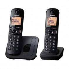 Telefon DECT Panasonic KX-TGC212FXB negru - Telefon fix