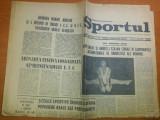 ziarul sport 15 aprilie 1972- foto cu  dobrin pe prima pagina