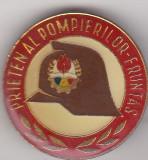 Insigna Prieten al Pompierilor - Fruntas model 1 , mare