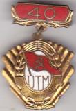Insigna  40 ani UTM