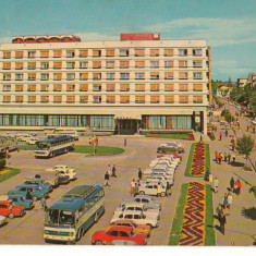 CPI (B7370) CARTE POSTALA - PITESTI. HOTEL MUNTENIA, 1977 - Carte Postala Muntenia dupa 1918, Circulata, Fotografie