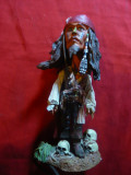 Bibelou - Jack Sparrow -Piratii din Caraibe -prod.Neca ,cap mobil ,h=16cm
