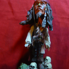 Bibelou - Jack Sparrow -Piratii din Caraibe -prod.Neca, cap mobil, h=16cm