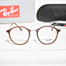 Rame de ochelari de vedere Ray Ban RB7073 5434 - Rama ochelari Ray Ban, Unisex, Maro, Rotunde, Rama intreaga, Designer