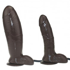 Dildo Gonflabil Penis Realistic Ventuza Waterproof Pompa Mare Black Sex Toy