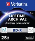 Verbatim M-Disc BD-R Carcasa slim cu 3 discuri