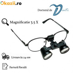 Lupe dentare stomatologie magnificatie 3.5x Clasic