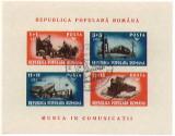 1948 Romania - colita nedantelata stampilata