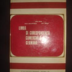 BERCIU, CONSTANTINESCU, POPESCU - LIMBA SI CORESPONDENTA COMERCIALA GERMANA - Curs Limba Germana Altele