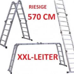 Scara de aluminiu 5, 7 m 570 cm, articulata (4 module) - Scara/Schela constructii