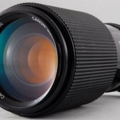 Vand obiectiv CANON FD 70-210mm 4 MACRO impecabil - Obiectiv DSLR Canon, Manual focus