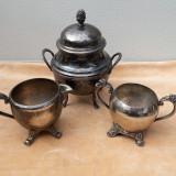 Set ceainic vechi argintat, marcat ER232