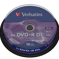 DVD+R DOUBLE LAYER VERBATIM 8x 8,5GB