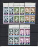 ROMANIA 1998 , LP 1468 , ANIVERSARI 92 SUPRATIPAR PASARI  BLOC  DE 4  MNH, Nestampilat