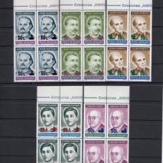ROMANIA 1998, LP 1468, ANIVERSARI 92 SUPRATIPAR PASARI BLOC DE 4 MNH - Timbre Romania, Nestampilat