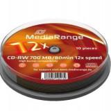 CD-RW MEDIARANGE 12X CAKE 10