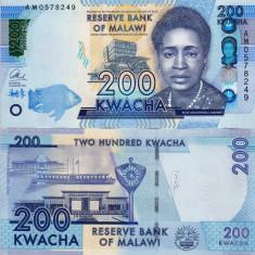 MALAWI 200 kwacha 2016 UNC!!! - bancnota africa