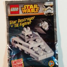 LEGO - STAR WARS - STAR DESTROYER + TIE FIGHTER 911510 - LIMITED EDITION, 6-10 ani