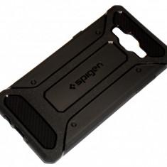Husa Protectie SPIGEN Silicon TPU Samsung Galaxy A5 - Husa Telefon Samsung, Negru, Gel TPU
