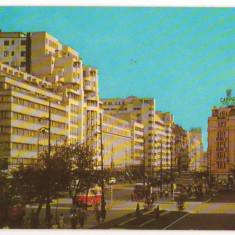CPI (B7316) CARTE POSTALA - BUCURESTI. B-dul g-ral MAGHERU, 1966 - Carte Postala Muntenia dupa 1918, Circulata, Fotografie