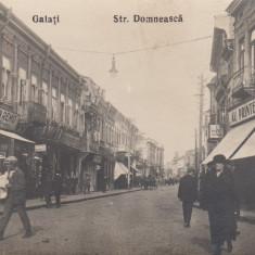 GALATI STR. DOMNEASCA VANZATORI DE ZIARE MAGAZINE ED. LIBRARIA WERTENSTEIN - Carte Postala Moldova dupa 1918, Circulata, Printata