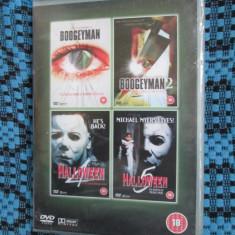 4 FILME HORROR / DE GROAZA - BOOGEYMAN 1 si 2 + HALLOWEEN 4 si 5 (DVD IN TIPLA!) - Film thriller, Engleza