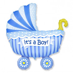 Balon folie 61cm figurina carucior It's a Boy - Decoratiuni botez