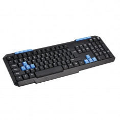 KEYBOARD US OMEGA OK-015 BLUE WSAD M-MEDIA USB - Tastatura Omega, Cu fir