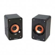 OMEGA SPEAKERS 2.0 OG-11W WOOD 5W BLACK [42793] - Boxe PC