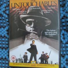 THE UNTOUCHABLES (1 DVD ORIGINAL cu KEVIN COSTNER, ROBERT DE NIRO, SEAN CONNERY), Engleza