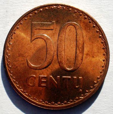 1.663 LITUANIA 50 CENTU 1991 AUNC foto