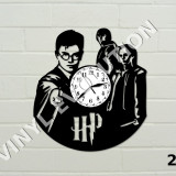 Ceas de perete din vinil - Harry Potter