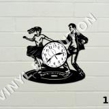 Ceas de perete din vinil - dans - dansatori