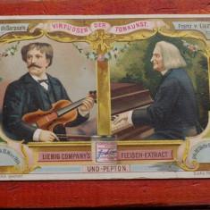 Cartonas de epoca / de Sarasate & Liszt cromolitografie Liebig Company's Extract - Cartonas de colectie