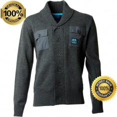 Bluza Originala Henleys Mens Tapped Button Knit Charcoal - Bluza barbati, Marime: S, M, L, Culoare: Din imagine