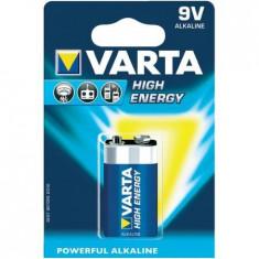 Baterii alcaline Varta High Energy 9V, blister