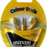 CASTI MAXELL STEREO COLOUR BUDZ YELLOW 303363.02.CN - Casti Telefon