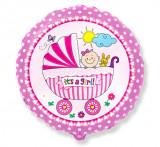 Balon folie 45cm carucior It's a girl!