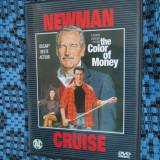 THE COLOR OF MONEY (1 DVD ORIGINAL cu PAUL NEWMAN si TOM CRUISE) - Film Colectie, Engleza