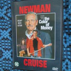 THE COLOR OF MONEY (1 DVD ORIGINAL cu PAUL NEWMAN si TOM CRUISE)