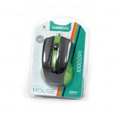 MOUSE OMEGA OM05G VERDE/NEGRU USB, Optica