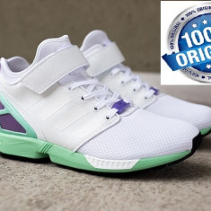 Adidasi Adidas ZX Flux NPS MID ORIGINALi 100% NR 43 1/3 ; - Adidasi barbati, Culoare: Alb