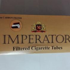 Tuburi tigari Imperator cu Carbon 200 buc /cutie pentru injectat tutun - Foite tigari