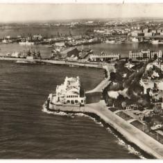 CPI (B7389) CARTE POSTALA - CONSTANTA. CAZINO, VEDERE GENERALA, 1967 - Carte Postala Dobrogea dupa 1918, Circulata, Fotografie
