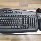 Kit Microsoft  Wireless Optical Desktop 1000, USB mouse, tastatura - poze reale, Fara fir