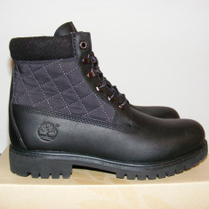 Ghete Timberland-6-Inch-Panel-Boots-Black-Leather-Mens-48525 nr. 41 - Ghete barbati Timberland, Culoare: Negru, Piele naturala