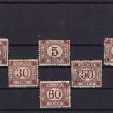 ROMANIA 1881, TAXA DE PLATA TIPAR BRUN SERIE MIXTA - Timbre Romania, Stampilat