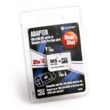 ADAPTOR DUAL MICROSD LA MEMORY STICK PRO DUO (2 IN 1) PSP MAX 32 GB, Platinet